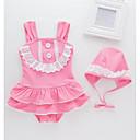 ieftine Costum Baie Fete-Copii / Copil Fete Plajă Mată / Jacquard Poliester Costum Baie Roz Îmbujorat 100