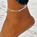 billige Kropssmykker-Dame Yoga Ankel Ankel Armbånd - Bølge Damer, Unikt design, Bohemisk, Mode Smykker Guld / Sølv Til Ferie I-byen-tøj