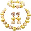 povoljno Komplet nakita-Žene Narukvica s perlama Jedna vrpca Lopta dame Moda Naušnice Jewelry Plava / Pink / Jarko ružičasto Za Vjenčanje