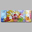 ieftine Picturi în Ulei-Hang-pictate pictură în ulei Pictat manual - Peisaj / Floral / Botanic Contemporan Includeți cadru interior / Trei Panouri / Stretched Canvas