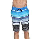 זול טבעות לגברים-SBART בגדי ריקוד גברים מכנסי שורט בגדי ים עמיד למים, ייבוש מהיר, לביש פוליאסטר / ספנדקס בגדי ים ביגוד חוף מכנסי גלישה פס גלישה / חוף / ספורט מים / סטרצ'י (נמתח)