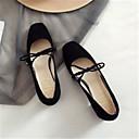 ieftine Tocuri de Damă-Pentru femei Pantofi Piele de Căprioară Primavara vara Balerini Basic Tocuri Toc Îndesat Vârf pătrat Negru / Gri / Roz