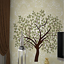 cheap Wall Stickers-Wallpaper / Mural Canvas Wall Covering - Adhesive required Art Deco / Trees / Leaves / Pattern