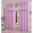 cheap Curtains & Drapes-Curtains Drapes Kids Room Floral 100% Polyester Embroidery
