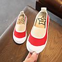 זול נעלי ילדות-בנות נעליים קנבס / PU אביב קיץ נוחות נעליים ללא שרוכים הליכה ל ילדים שחור / אדום / ירוק
