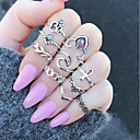 cheap Rings-Women's Vintage Style Hollow Out Band Ring Ring Set - Alloy Flower Vintage, Bohemian Silver For Daily Street / 10pcs