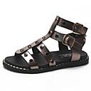 ieftine Flip-Flops de Damă-Pentru femei Pantofi PU Vară Pantof cu Berete Sandale Toc Drept Vârf rotund Piatră Semiprețioasă Auriu / Alb / Negru
