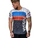 billige Herre Ringe-Herre - Regnbue Trykt mønster overdrevet T-shirt