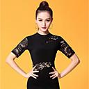 cheap Ballroom Dance Wear-Ballroom Dance Tops Women's Performance Ice Silk Lace / Ruching Short Sleeve Top