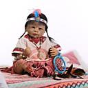 preiswerte Puppen-NPKCOLLECTION Lebensechte Puppe Baby Mädchen 22 Zoll Geschenk Handgefertigt Künstliche Implantation Braune Augen Kinder Mädchen Spielzeuge Geschenk