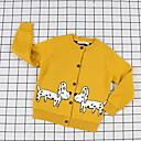 povoljno Hlače za dječake-Djeca Dječaci Aktivan Print Dugih rukava Poliester Džemper i kardigan Bijela 100
