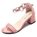 ieftine Sandale de Damă-Pentru femei PU Vară D'Orsay & Două Bucăți Sandale Toc Jos Vârf rotund Negru / Roz / Kaki