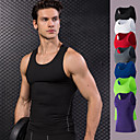 cheap Running Shirts, Pants & Shorts-Men's Running Tank Top - Red, Green, Blue Sports Vest / Gilet / Tank Top Fitness, Gym, Workout Activewear Quick Dry, Sweat-wicking High Elasticity