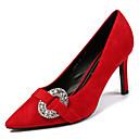povoljno Ženske cipele s petom-Žene Cipele PU Ljeto Obične salonke Cipele na petu Stiletto potpetica Krakova Toe Crn / Crvena