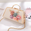 cheap Clutches & Evening Bags-Women's Bags PU(Polyurethane) / Alloy Evening Bag Appliques / Pearls Floral Print Blushing Pink / Light Gold / Light Purple