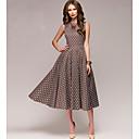 cheap Women's Heels-women's swing dress - polka dot midi
