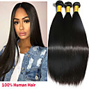 cheap Natural Color Hair Weaves-3 Bundles Peruvian Hair Straight 8A Human Hair Natural Color Hair Weaves / Hair Bulk Extension 8-28 inch Natural Human Hair Weaves Machine Made Sexy Lady Best Quality Hot Sale Human Hair Extensions