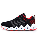 cheap Men's Athletic Shoes-Men's Knit / Elastic Fabric Fall Comfort Athletic Shoes Running Shoes Color Block Gray / Black / Gold / Black / Red