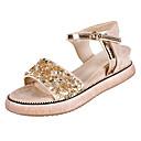 ieftine Sandale de Damă-Pentru femei PU Vară Pantofi pe Gleznă Sandale Toc Platformă Vârf rotund Negru / Migdală