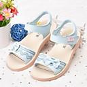 baratos Sapatilhas e Mocassins Masculinos-Para Meninas Sapatos Pele Primavera Verão Conforto Sandálias Laço para Infantil Branco / Azul / Rosa claro