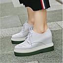 povoljno Ženske sandale-Žene Cipele Mekana koža Proljeće / Ljeto Udobne cipele Oksfordice Creepersice Okrugli Toe Obala / Crn