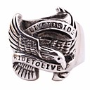cheap Men's Rings-Men's Vintage Style Stylish Statement Ring - Titanium Steel, Stainless Eagle, Letter Statement, European, Hip-Hop 7 / 8 / 9 / 10 / 11 Silver For Carnival Street