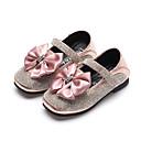 povoljno Cipele za djevojčice-Djevojčice Cipele PU Proljeće ljeto Udobne cipele / Obuća za male djeveruše Ravne cipele Hodanje Mašnica / Svjetlucave šljokice / Mat selotejp za Tinejdžer Crn / Pink / Pink