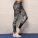 זול ביגוד כושר, ריצה ויוגה-בגדי ריקוד נשים מכנסי יוגה - שחור ספורט הדפס דיגיטלי 3D ספנדקס טייץ רכיבה על אופניים / חותלות ריקוד, ריצה, כושר וספורט לבוש אקטיבי נושם, דחיסה, נוח סטרצ'י (נמתח) / באט הרם