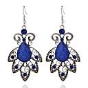 hesapli Moda Küpeler-Kadın's Damla Küpeler Uzun Leaf Shape Bayan Şık Klasik Reçine Küpeler Mücevher Navy Mavi Uyumluluk Günlük 1 çift