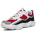 זול סניקרס לגברים-בגדי ריקוד גברים PU / בד גמיש סתיו נוחות נעלי אתלטיקה ריצה קולור בלוק לבן / אדום / שחור לבן