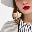 olcso Vallásos ékszerek-Női Nem egyező / Üreg Függők - Leaf Shape Egyszerű, divatba jövő, Divat Arany / Ezüst Kompatibilitás Utca / Klub