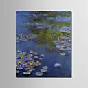 رخيصةأون رسومات زيتية-هانغ رسمت النفط الطلاء رسمت باليد - مشهور / مناظر طبيعية الحديث تشمل الإطار الداخلي / امتدت قماش