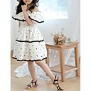 זול חצאיות לבנות-שמלה כותנה ללא שרוולים אחיד / מנוקד בוהו בנות ילדים