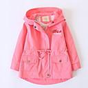povoljno Kompletići za djevojčice-Djeca Djevojčice Ulični šik Jednobojni Dugih rukava Pamuk Jakna i kaput