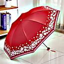 abordables Paraguas/Parasol-Poliéster / Acero Inoxidable Todo Nuevo diseño / Soleado y lluvioso Paraguas de Doblar