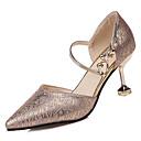 povoljno Ženske sandale-Žene PU Ljeto D'Orsay cipele Cipele na petu Stiletto potpetica Krakova Toe Zlato / Crn / Srebro / Zabava i večer / Dnevno / Zabava i večer