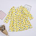 tanie Zestawy ubrań dla dziewczynek-Dzieci / Brzdąc Dla dziewczynek Aktywny / Moda miejska Codzienny / Weekend Cytryna Owoc Nadruk Długi rękaw Do kolan / Nad kolano Bawełna Sukienka Żółty 100