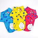 halpa Koiran vaatteet-Koirat / Kissat T-paita Koiran vaatteet Tähdet Keltainen / Punainen / Sininen Mélange Poly / Coton Asu Lemmikit Mies Vapaa-aika