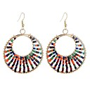 cheap Earrings-Women's Long Drop Earrings - Vintage, Ethnic, Fashion Rainbow For Party / Evening Going out