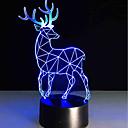 olcso Asztali dekor lámpa-1set 3D éjszakai fény USB Tompítható / USB-kábellel 85-265 V