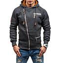 abordables Brazaletes-Hombre Básico Sudadera / La chaqueta con capucha Un Color