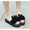povoljno Ženske cipele s petom-Žene Cipele PU Ljeto Udobne cipele Papuče i japanke Ravna potpetica Crn / Bijela / Pink