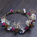 tanie Imprezowe nakrycia głowy-Poliester Opaski na głowę z Kwiat 1 sztuka Ślub / Na wolnym powietrzu Winieta