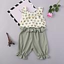 ieftine Rochii Fete-Copii / Copil Fete Imprimeu Fără manșon Set Îmbrăcăminte