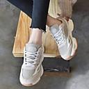 povoljno Ženske sandale-Žene Cipele PU Proljeće / Ljeto Udobne cipele Atletičarke tenisice Ravna potpetica Zatvorena Toe Sive boje / Bijela / Pink