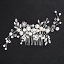 cheap Party Headpieces-Alloy Hair Clip with Flower Comb 1pc Wedding / Special Occasion Headpiece