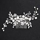 levne Ozdoby do vlasů na večírek-Slitina Spona do vlasů s Květinový hřebínek 1ks Svatební / Zvláštní příležitosti Přílba