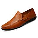 cheap Men's Slip-ons & Loafers-Men's PU(Polyurethane) Fall Comfort Loafers & Slip-Ons Black / Light Brown / Dark Brown