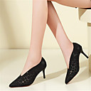 povoljno Ženske cipele s petom-Žene Cipele Mikrovlakana Proljeće ljeto Obične salonke Cipele na petu Stiletto potpetica Krakova Toe Crn / Sive boje