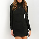 cheap Foundations-Women's Basic / Street chic Little Black Dress - Solid Colored Ruched